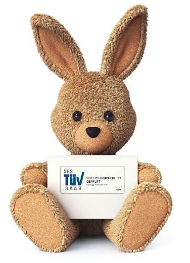 Stuffed bunny with greeting card