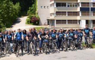 54 E-Bike-Fahrer kommen aktuell mit dem Fahrrad zur Arbeit.