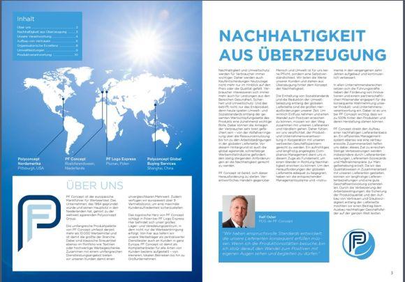 Nachhaltigkeitsbericht deutsch pfkonzept - PF Concept veröffentlicht Nachhaltigkeitsbericht