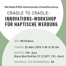 workshop anzeige - HAPTICA® live '18: Cradle to Cradle-Workshop